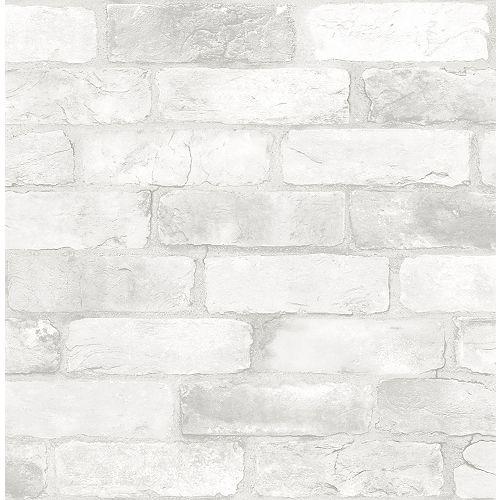 Loft White Brick Peel & Stick Wallpaper