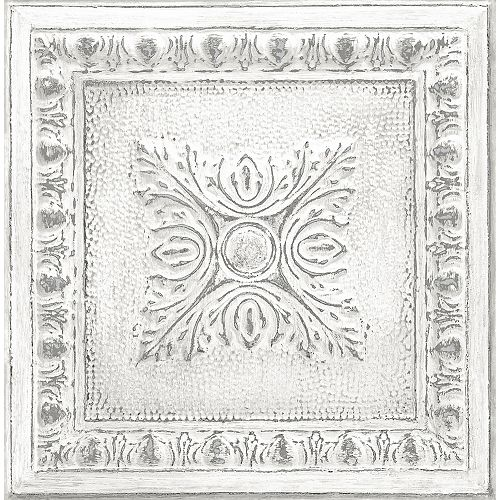 Papier peint récupéré en étain