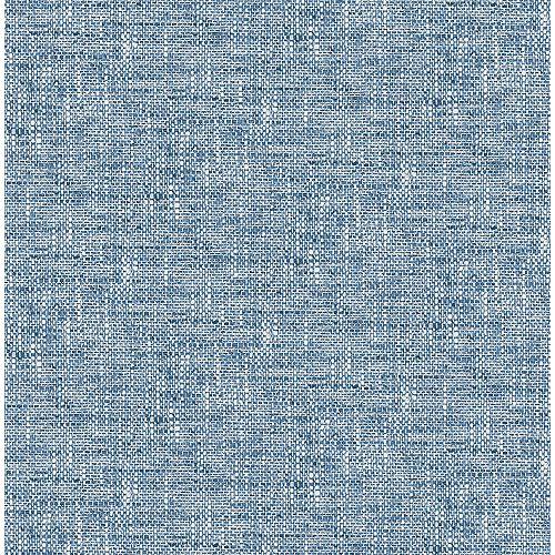 Papiers peints texturés en popeline bleu marine peler et coller