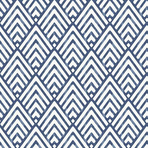 Papier peint pointe de flèche, bleu foncé