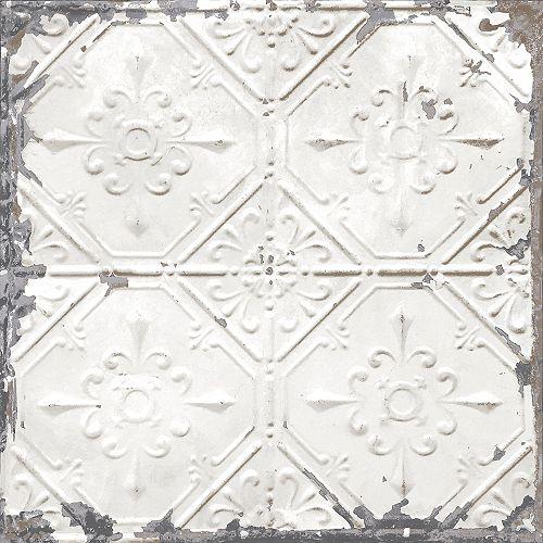 Vintage Tin Tile Peel & Stick Wallpaper