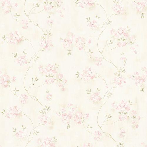 Papier peint Rosemoor a Fleur Rose Campagne