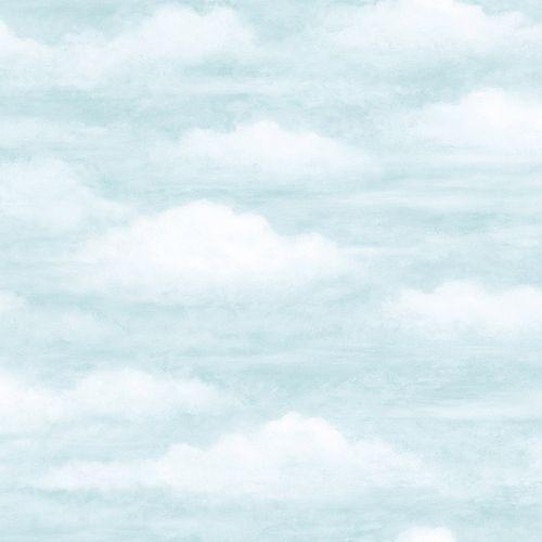 Papier peint effet Nuages Reveur Bleu Pale
