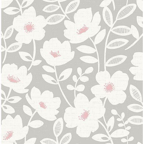 Papier peint Bergman à fleurs Rose Scandi