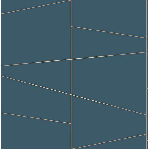Papier peint Fairmont Bleu Deco Fracture