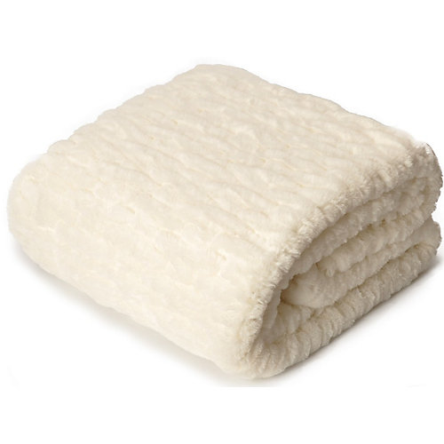 """Embossed Faux Fur reverse to Soft Micro Mink,Quilted Heavy Weight Throw/Blanket 50""""x60"""""""