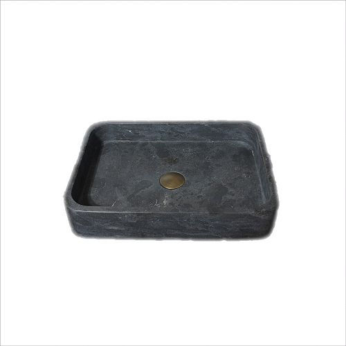 A&E Bath and Shower Thalia 19-11/16-in Stone Vessel Rectangular Sink Basin in Black