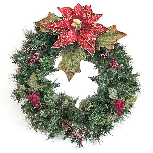 30 inch Decorated Wreath Red