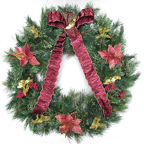 30 inch Decorated Wreath Wintery