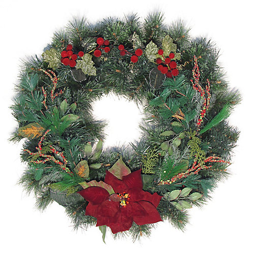 30 inch Decorated Wreath Branches