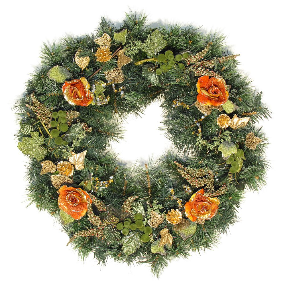 Henryka Ltd 30 inch Decorated Wreath Roses