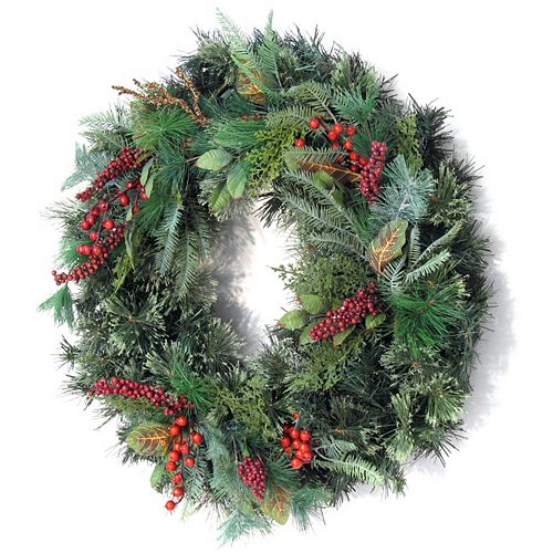 30 inch Decorated Wreath Berries