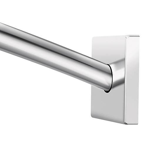 Triva Adjustable Curved Shower Rod (Up To 60-inch) In Chrome