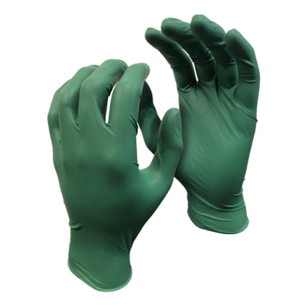 Watson Gloves Gants jetables et biodégradables enduits de nitrile 4 mil paquet de 50 - Green Monkey - M