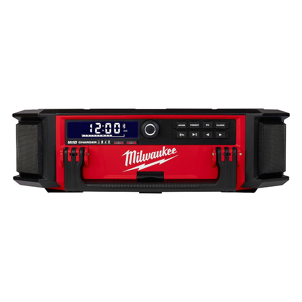 Milwaukee Tool PACKOUT M18 18V Lithium-Ion Cordless Radio/Speaker with Built-In Charger (Tool Only)