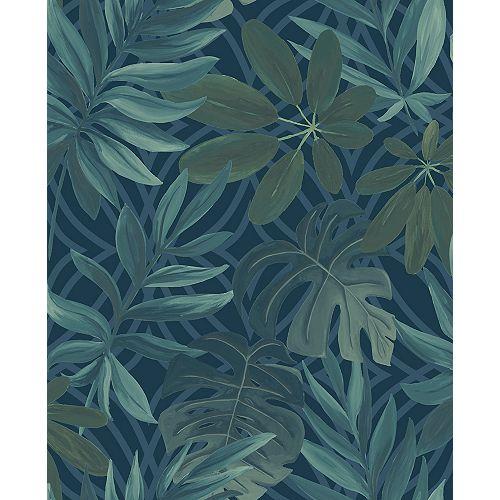 Nocturnum Blue Leaf Wallpaper
