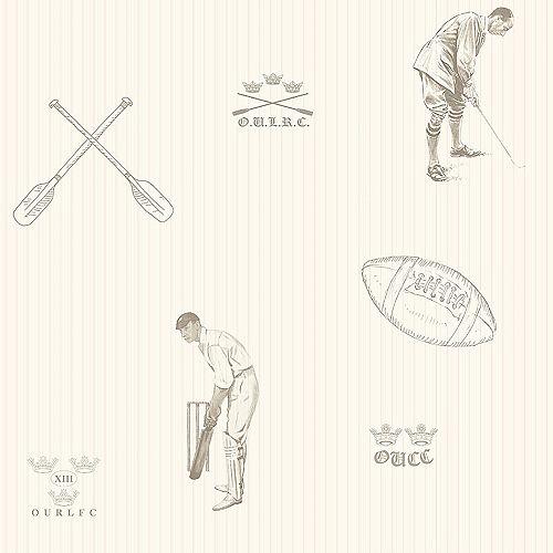 Papier peint sport, brun