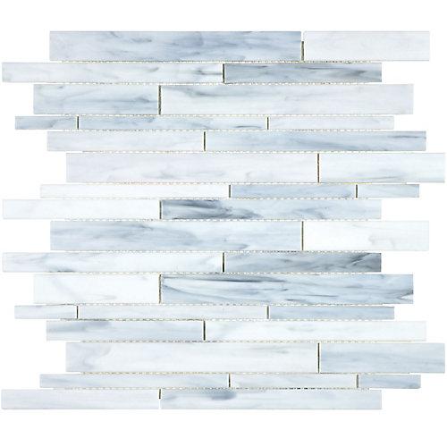 Barolo Artic Random Strip Strip Stained Glass Mosaic (15 sq.ft. / case)