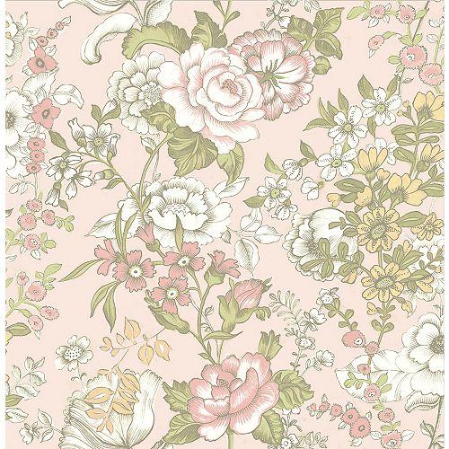 Ainsley Pink Boho Papier Peint Floral