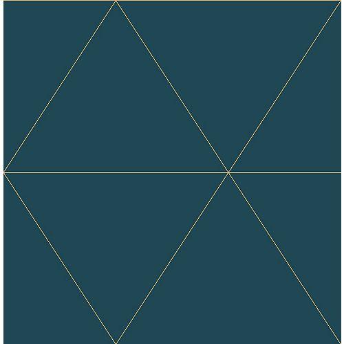 Twilight Teal Geometric Wallpaper