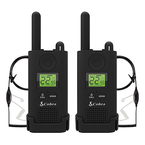 Pro MicroTALK 23-Mile, 22 Channel FRS/GMRS 2 Way Radios with Surveillance Headsets -2 Pack