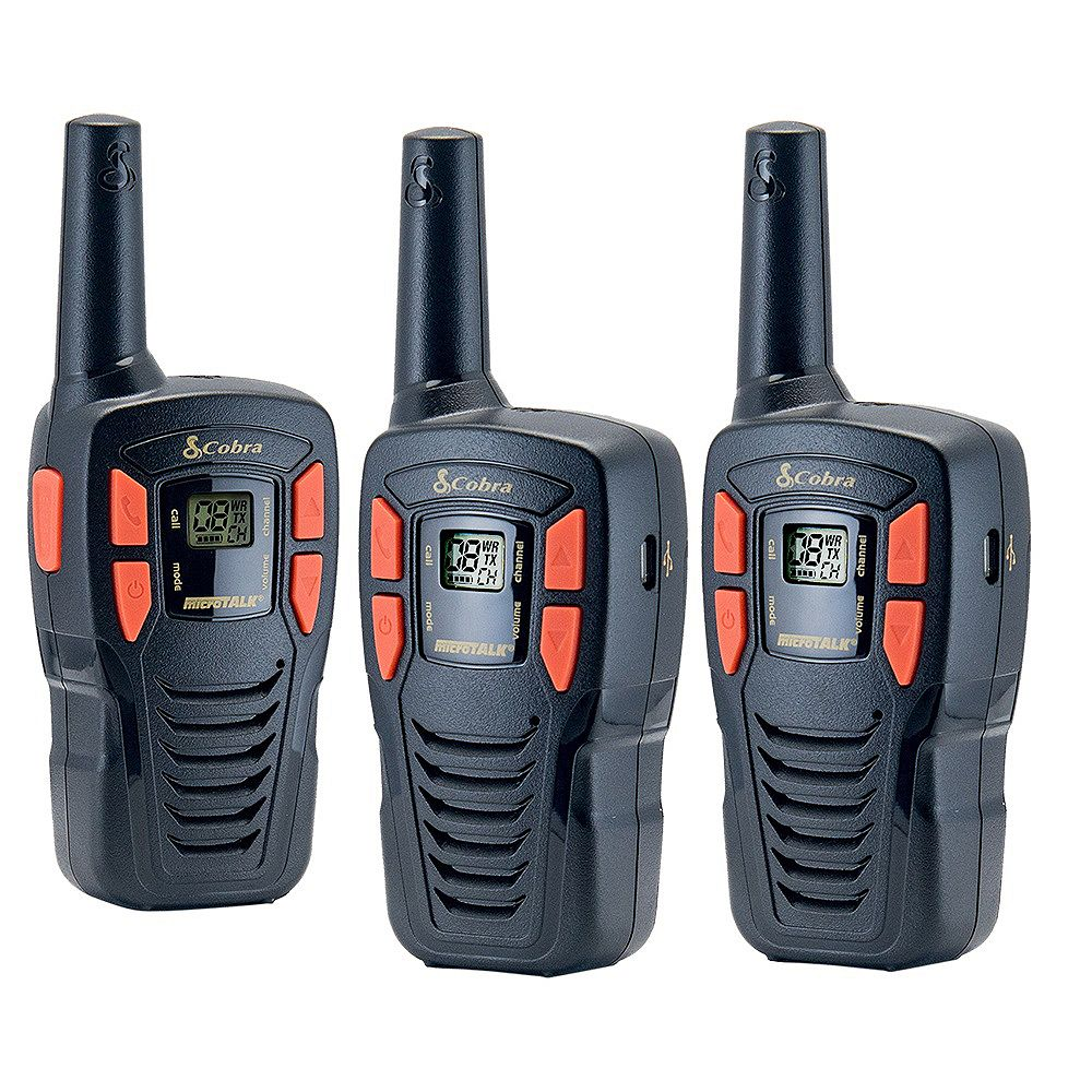 Cobra MicroTALK 25 km, 22 Channel FRS/GMRS Two Way Radio / Walkie Talkie - 3 Pack