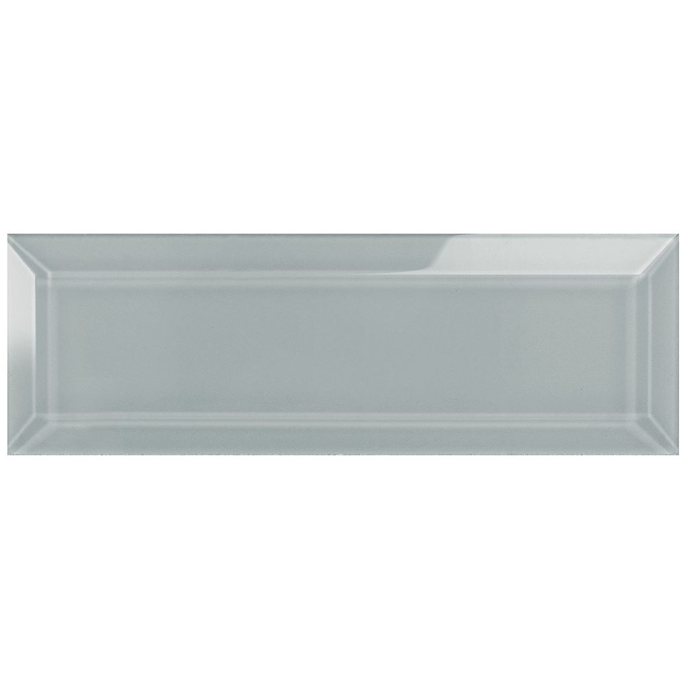 Enigma Arctic Metro 3-inch x 9-inch Beveled Glass Tile (4.95 sq.ft. / case)