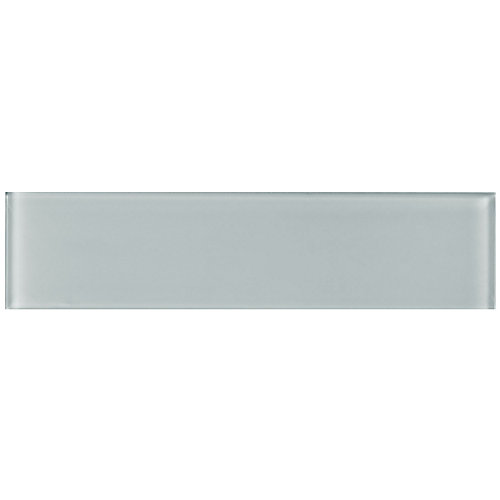 Arctic Feather 3-inch x 12-inch Glass Tile (5 sq.ft. / case)