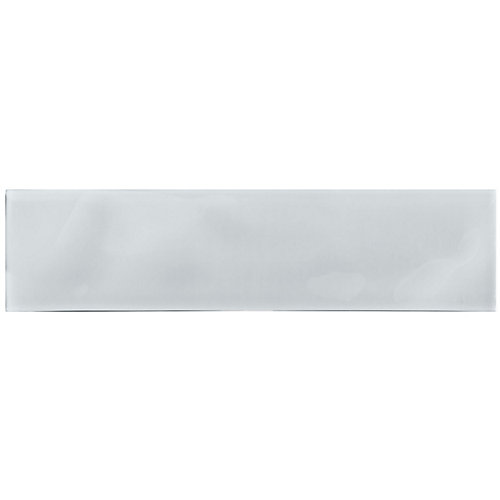 Arctic Snow 3-inch x 12-inch Artisan Glass Tile (5 sq.ft. / case)