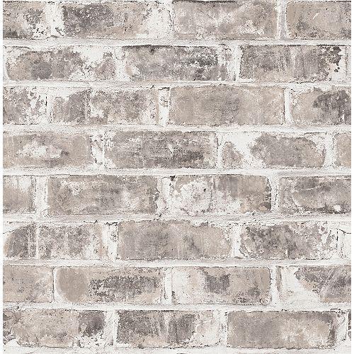 Papier peint Jomax brique entrepot gris