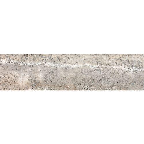 Enigma Carrelage en travertin veiné Franca adouci et rempli,  6 po x 24 po (8 pi2 /boîte)