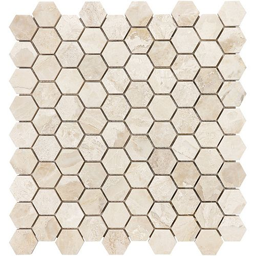 Enigma Rosario 1.25-inch x 1.25-inch Hexagon Honed Marble Mosaic Tile (10 sq.ft. / case)