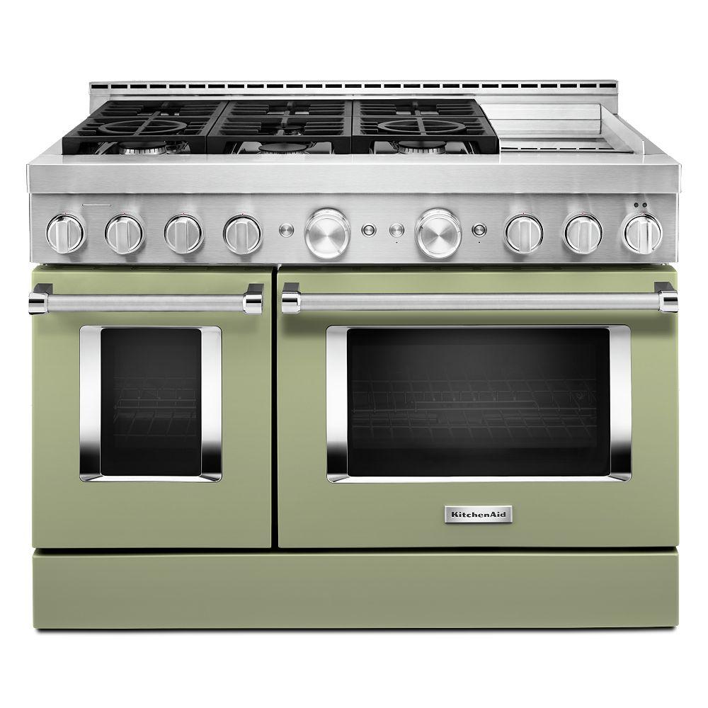 KitchenAid 48-inch 6.3 cu. ft. Smart Double Oven ...