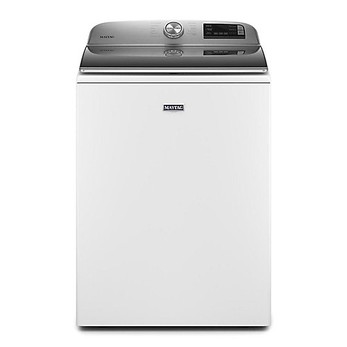 5.4 cu. ft. Smart Top Load Washer with Extra Power Button in White