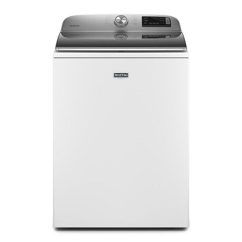 Maytag 5.4 cu. ft. Smart Top Load Washer with Extra Power Button in White