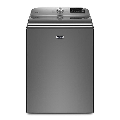 Maytag 5.4 cu. ft. Smart Top Load Washer with Extra Power Button in Metallic Slate