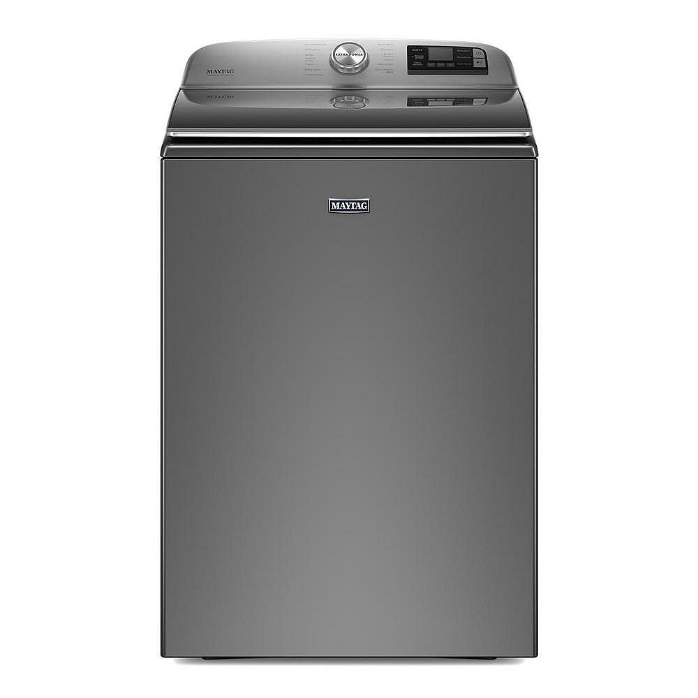Maytag 6.0 cu. ft. Smart Top Load Washer with Extra Power Button in Metallic Slate - ENERGY STAR®