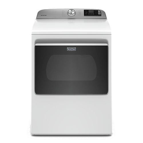 7.4 cu. ft. Smart Electric Dryer with Extra Power Button in White