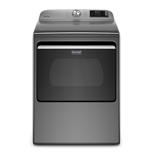 7.4 cu. ft. Smart Electric Dryer with Extra Power Button in Metallic Slate