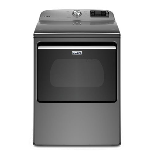 Maytag 7.4 cu. ft. Smart Electric Dryer with Extra Power Button in Metallic Slate