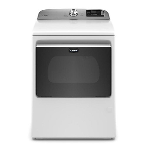 7.4 cu. ft. Smart Gas Dryer with Extra Power Button in White