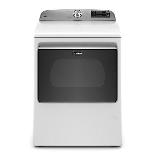 Maytag 7.4 cu. ft. Smart Gas Dryer with Extra Power Button in White
