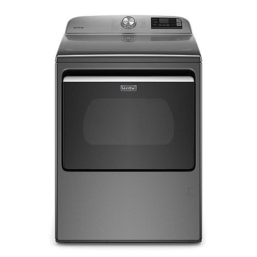 7.4 cu. ft. Smart Gas Dryer with Extra Power Button in Metallic Slate