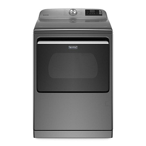 7.4 cu. ft. Smart Gas Dryer with Extra Power Button in Metallic Slate - ENERGY STAR®