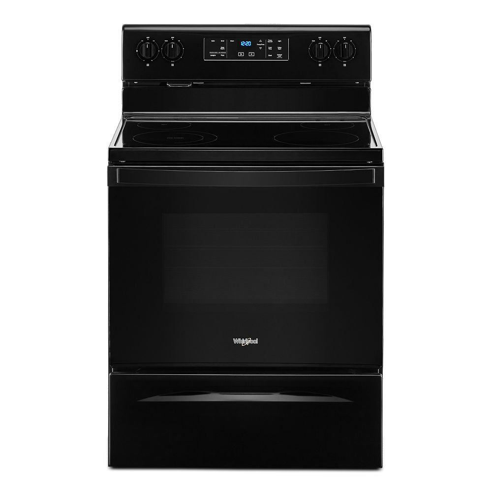 Whirlpool 5.3 cu. ft. Electric Range with Self-Cleaning Oven in Black