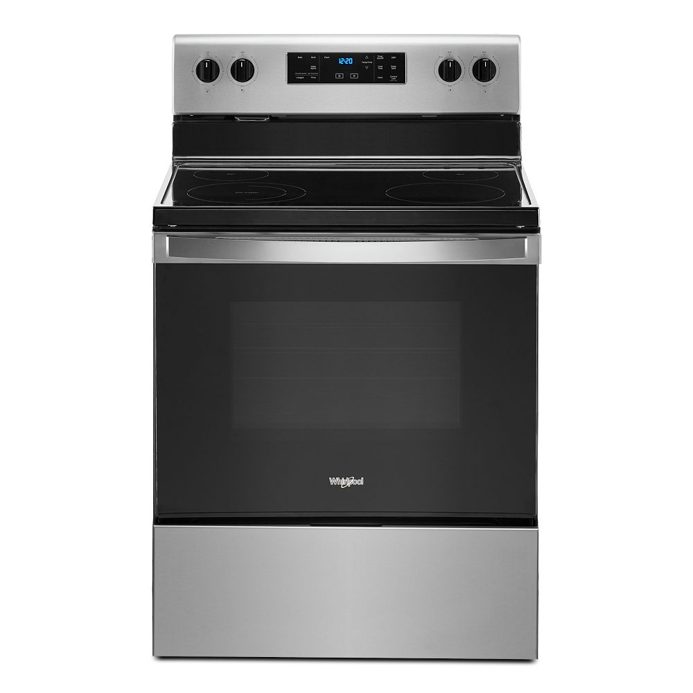 Whirlpool 5.3 cu. ft. Electric Range with Self-Cleaning Oven in Stainless Steel