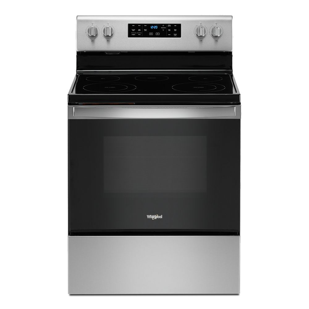 Whirlpool 5.3 cu. ft. Electric Range with Self-Cleaning Oven in Fingerprint Resistant Stainless Steel