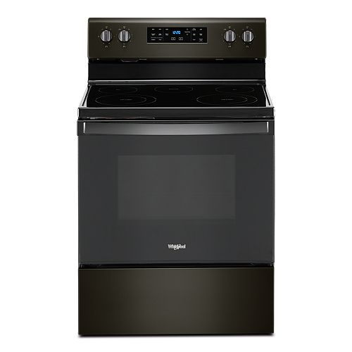 5.3 cu. ft. Electric Range with Self-Cleaning Oven in Black Stainless Steel