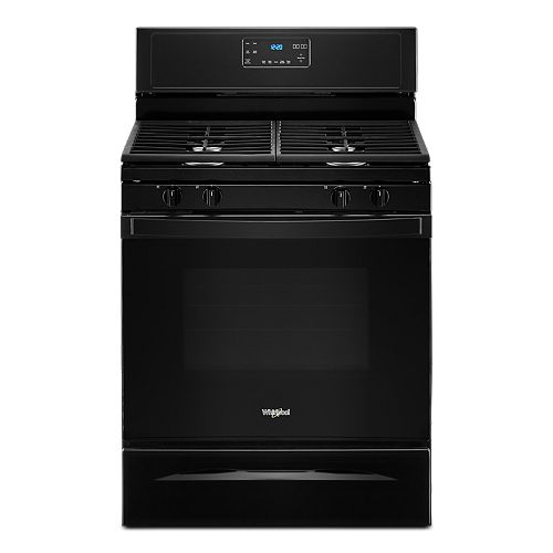 5.0 cu. ft. Gas Range with Self-Cleaning Convection Oven in Black