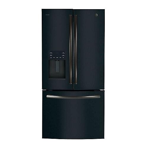 33-inch Width, 17.5 Cu. ft. Counter-Depth French Door Refrigerator - Black Slate
